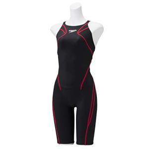 Speedo(スピード) 競泳水着 Atlas Kneeskin アトラスニースキン 水泳 レディース SCW11906F ブラック/レッド O iron-peace