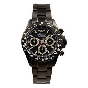 [テクノス] 腕時計 クロノグラフ 10気圧防水 T4685BB メンズ ブラック iron-peace