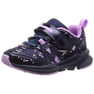 シュンソク スニーカー 運動靴 幅広 軽量 15~23cm 3E キッズ 女の子 LEC 6120 ネイビー 16.5 cm|iron-peace