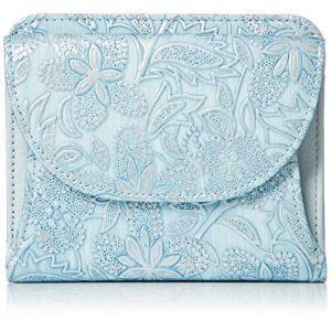 [アルカン] 二つ折れ財布 クレア ブルー iron-peace