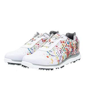 [フットジョイ] ゴルフシューズ エンパワー スパイクレス Boa 2016年モデル レディース ホワイト/プリント(19) 25.0 iron-peace