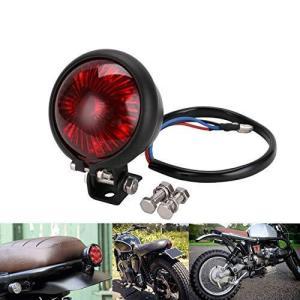 YIBO オートバイ赤12V LED調整可能なカフェレーサースタイルストップテールライトバイクブレーキリアランプテー|iron-peace