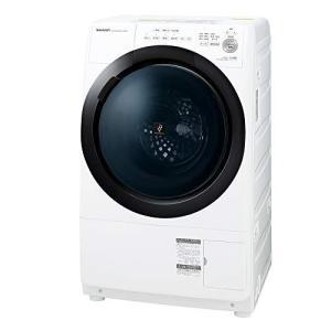 シャープ ドラム式 洗濯乾燥機 ヒーターセンサー乾燥 右開き(ヒンジ右) 洗濯7kg/乾燥3.5kg ホワイト系 幅640mm 奥? iron-peace