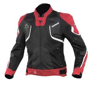 コミネ(KOMINE) バイク用 Rスペックメッシュジャケット レッド/ブラック 3XL JK-143 12952 メッシュ素材 プロテクター|iron-peace