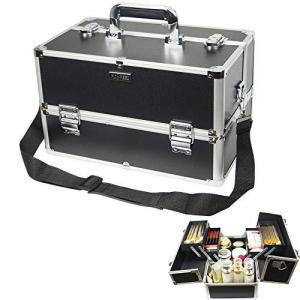 MDSPEED メイクボックス コスメボックス 持ち運びができる 化粧品収納ボックス プロ用 大容量 収納ケース ネイル iron-peace