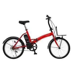 トランスモバイリー(TRANS MOBILLY) E-BASIC 電動アシスト自転車 レッド 折りたたみ 20インチ 前後泥除け付き 前キャ?|iron-peace