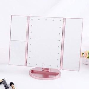 Orio 卓上 鏡 化粧ミラー 三面鏡 LEDミラー 鏡 LED ミラー 化粧鏡 女優ミラー LEDライト付き 2倍 3倍 10倍 おしゃれ ? iron-peace