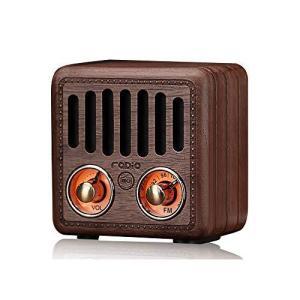 ポケットラジオ 携帯 FM対応 レトロ 小型 高感度 ワイドFM ポータブル簡単操作 木製 ラジオ|iron-peace