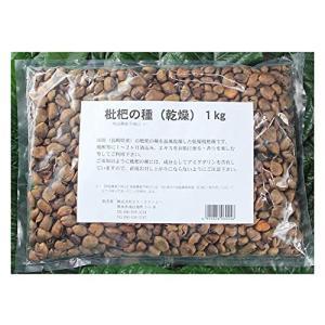 枇杷(びわ)の種 1kg 乾燥 国産 長崎県産 残留農薬不検出 生種2,5kg相当 iron-peace