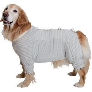(日本製オーガニックコットン )ガーゼ肌着 ー草木染・背中リボンー 大型犬用