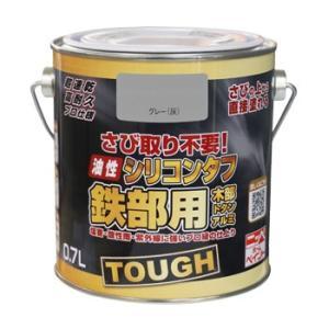 ペンキ 塗料 鉄部 さびの上から ニッペ 油性シリコンタフ 0.7L
