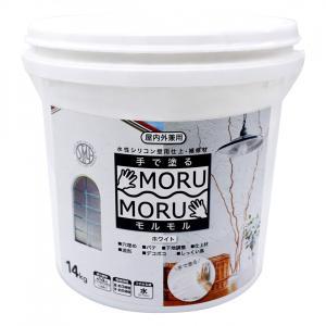 しっくい風 手で塗るペンキ 補修 仕上げ 簡単 室内壁 ビニールクロス MORUMORU モルモル ...