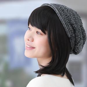 毛付き帽子 医療用帽子 抗がん剤帽子 医療用ウィッグ 女性用 ニット帽子 T01BK|iryouboushiplaisir|03