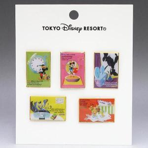 東京ディズニーリゾート TDRイラスト風5ピンセット 2001年 ミッキー ミニー ドナルド グーフィー プルート|is-club