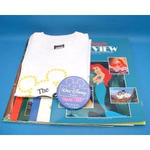 ディズニー ウォルト・ディズニー・スタジオ・ムービー・クラブ会員キット 1990年 会報6冊 Tシャツ 缶バッジ 会員証明書と会員証 USA|is-club