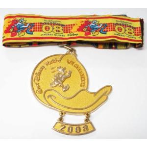 ドナルド 2008WDWハーフマラソンメダル 2008年1月12日WDWマラソン WDW(ディズニー...