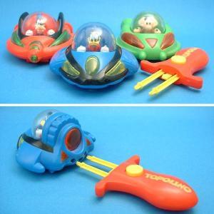 ディズニー スーパーダック(ドナルド)&スーパーグーフィー&イーガ・ビーバ スペースシャトル 3個セット イタリアコミック誌