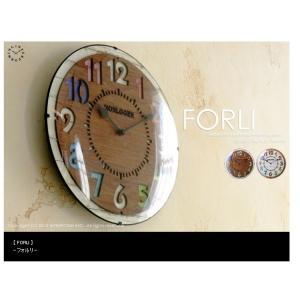 壁掛け時計/電波時計/FORLI/フォルリ/おしゃれ/スタイリッシュ/インテリア/静か/ブラウン is-interior
