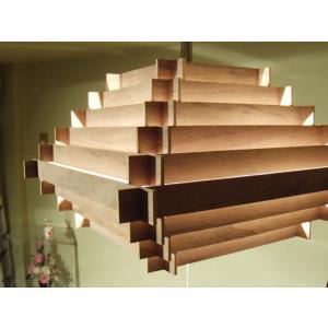 天井照明 3灯ペンダントライト Cube Broad-not WN ブロードノット 北欧 LED対応 ウッド 木目|is-interior|03