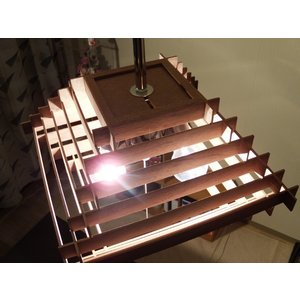 天井照明 3灯ペンダントライト Cube Broad-not WN ブロードノット 北欧 LED対応 ウッド 木目|is-interior|04