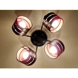 照明 4灯クロススポットライト ダークブラウン LED対応 北欧 リモコン ウッド 100W 277DBR|is-interior|02