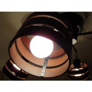 照明 4灯クロススポットライト ダークブラウン LED対応 北欧 リモコン ウッド 100W 277DBR|is-interior|03