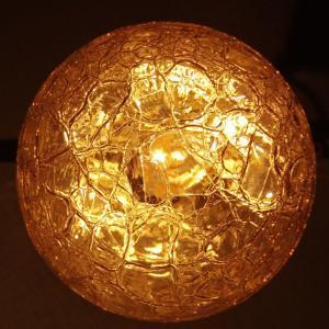 天井照明 ペンダントランプ Cube たまごヒビランプ アンバー ガラス 北欧 ミッドセンチュリー|is-interior|04