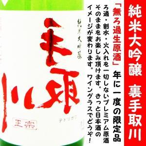 日本酒 裏手取川 純米大吟醸 無濾過生原酒 720ml (うら てどりがわ) 年に1度の限定品|is-mart