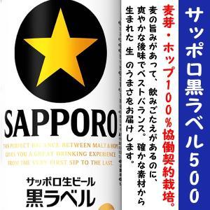 サッポロ 黒ラベル 生 ビール 500ml×1ケース(24本)|is-mart
