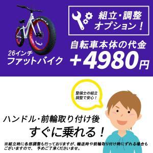 【別途車体購入が必要】【北海道・沖縄・離島発送不可】26インチファットバイク用 組立調整オプション 到着後ハンドル・前輪取付するだけ|isdinf