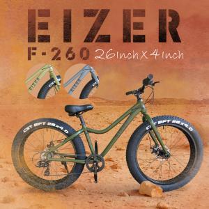 ファットバイク 自転車本体 26インチ 極太タイヤ 太いタイヤ シマノ 7段変速 Wディスクブレーキ アイゼル TENUS7|isdinf