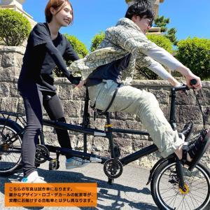 タンデム 自転車 Duo 折りたたみ 折り畳み クラウドファンディング 自転車 二人乗り マクアケ タンデム Makuake|isdinf