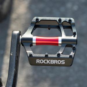 アルミフラットペダル マウンテンバイク ロードバイク クロスバイク ミニベロにも アルマイト加工 isdinf