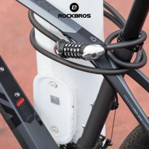自転車 鍵 5桁式ダイヤルロック ワイヤーロック バイク ロードバイク マウンテンバイク クロスバイク isdinf