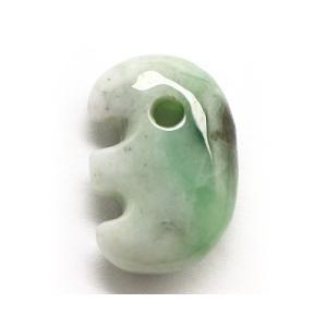 糸魚川翡翠(いといがわひすい)勾玉 小滝産 獣形 常磐緑 No.134 《証明書付》|ise-miyachu