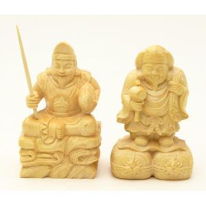 木彫 えびす様・大黒様 二福神 No.1