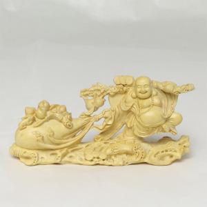 木彫り彫刻 七福神 置物  福布袋 No.2(ポイント2倍)