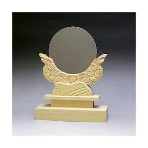 神鏡 神具 神棚 鏡 + 木曽桧製 雲形 台 サイズ 3.5寸|ise-miyachu