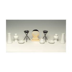 《神具内容》特価神鏡2.5寸 1台、特価土器セット(水玉2.3寸 1個・皿3寸 2枚・瓶子3.5寸 ...