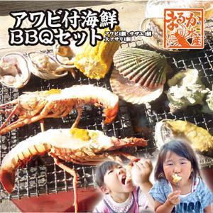 アワビ付海鮮BBQセット(アワビ4個サザエ4個大アサリ4個)...
