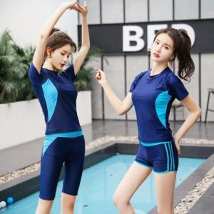 水着 レディース ラッシュガード 半袖 Tシャツ フィットネスウェア ショートパンツ 体型カバー 2...