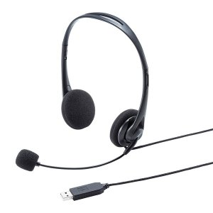 SANWA SUPPLY(サンワサプライ) USBヘッドセット MM-HSU09BK