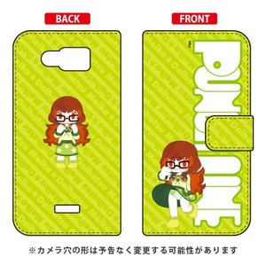 AQUOS PHONE SERIE mini SHL24 パンチライン PUNCH LINE 手帳型ケース キャラフル&ロゴ 台初 明香(だいはつ めいか)|isense