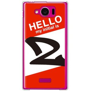 AQUOS PHONE SERIE mini SHL24 ハローイニシャル Z レッド 【Cf lt...
