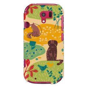 らくらくスマートフォン3 F-06F ケース カバー ネコ 猫 ねこ ぬこ ちゅうもくネコ オレンジの商品画像|ナビ