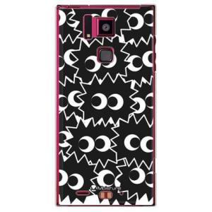 REGZA Phone T-02D PIKA PIKA SMALL ブラック クリア
