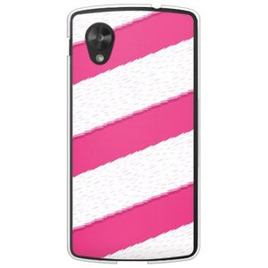 ネクサス5 ケース Google Nexus 5 EM01L 尻尾 モフモフ しっぽ 犬 猫 シッポストライプ ピンク|isense