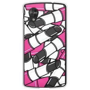 ネクサス5 ケース Google Nexus 5 EM01L リップ 口紅 コスメ デザイン 化粧品 ルージュ ブラック|isense