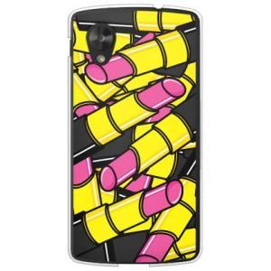 ネクサス5 ケース Google Nexus 5 EM01L リップ 口紅 コスメ デザイン 化粧品 ルージュ ピンク|isense