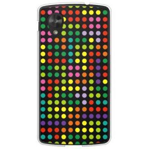 ネクサス5 ケース Google Nexus 5 EM01L ドット柄 水玉 デザイン テトリス ドット ブラックマルチ|isense